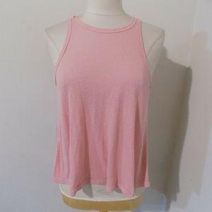 FREE PEOPLE Pink Vertical Rib Tank Top, XSmall